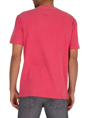 Tommy Jeans Novel Varsity Logo T-Shirt - Light Cerise Pink