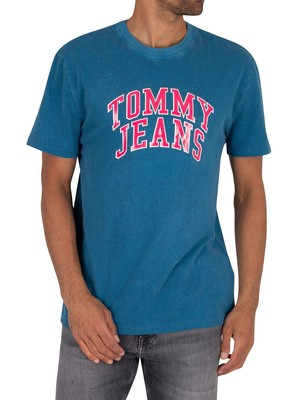 Tommy Jeans Novel Varsity Logo T-Shirt - Audacious Blue
