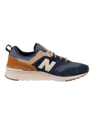 New Balance 997H Suede Trainers - Blue/Brown