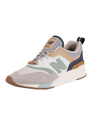 New Balance 997H Sport Trainers - White/Brown/Blue