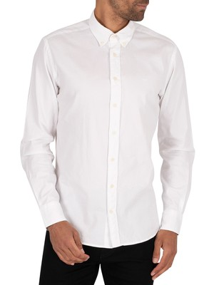 Hackett London Dye Oxford Slim Shirt - White