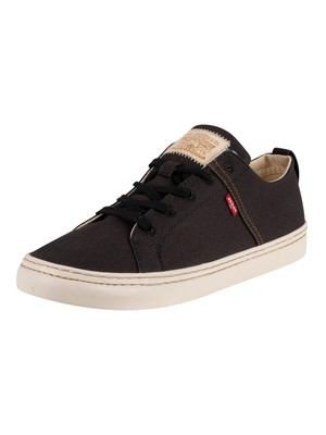 Levi's Sherwood Low Canvas Trainers - Regular Black