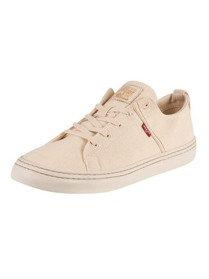 Levi's Sherwood Low Canvas Trainers - Regular White
