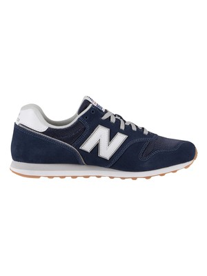 New Balance 373 Suede Trainers - Natural Indigo/White