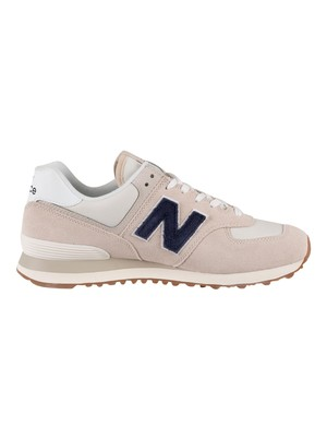 New Balance 574 Suede Trainers - Moonbeam