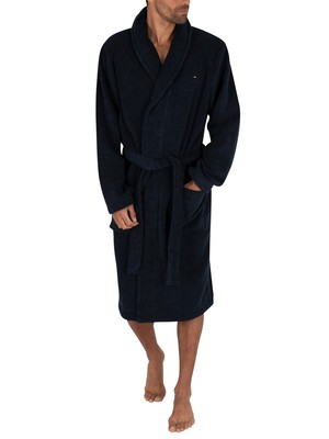 Tommy Hilfiger Icon Bathrobe - Navy Blazer