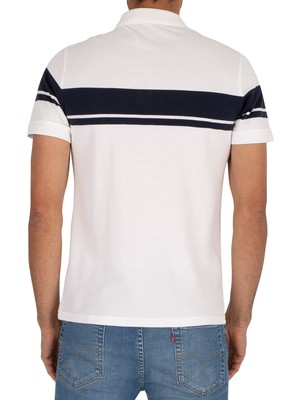 Sergio Tacchini Young Line Polo Shirt - White/Navy