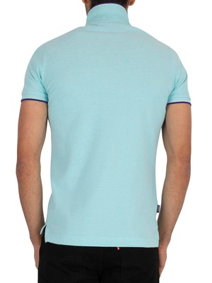 Superdry Poolside Pique Polo Shirt - Spearmint Grit