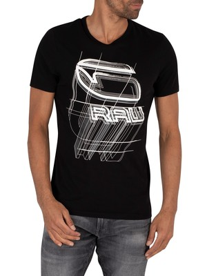 G-Star Perspective Logo T-Shirt - Dark Black
