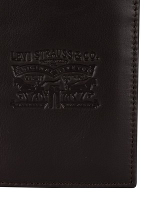 Levi's Two Horse Vertical Wallet - Dark Brown