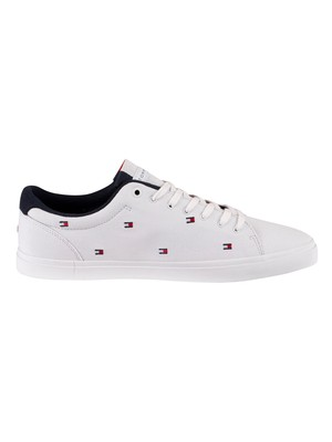Tommy Hilfiger Essential Seasonal Canvas Trainers - White