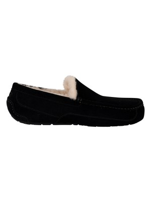 UGG Ascot Suede Slippers - Black