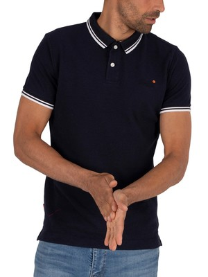 Superdry Classic Poolside Pique Polo Shirt - Atlantic Navy Twist