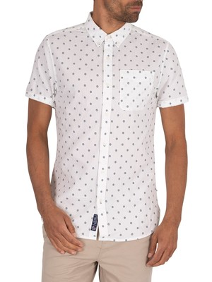 Superdry Classic Seersucker Shortsleeved Shirt - White
