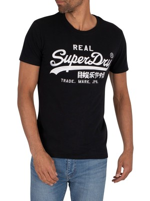 Superdry Mono EMB T-Shirt - Jet Black