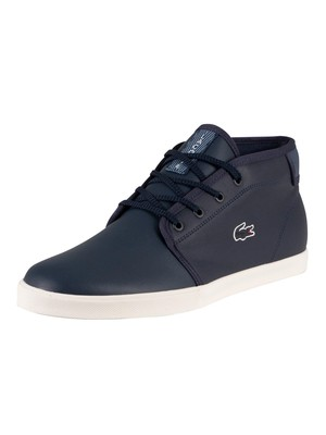 Lacoste Ampthill 120 2 CMA Leather Trainers - Navy/Off White