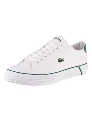 Lacoste Gripshot 120 2 CMA Canvas Trainers - White/Green