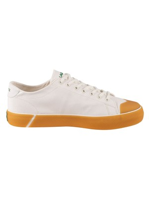 Lacoste Gripshot 120 6 CMA Canvas Trainers - Off White/Gum