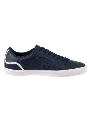 Lacoste Lerond 220 1 CMA Leather Trainers - Navy/White