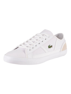 Lacoste Sideline 220 1 CMA Canvas Trainers - White/Off White