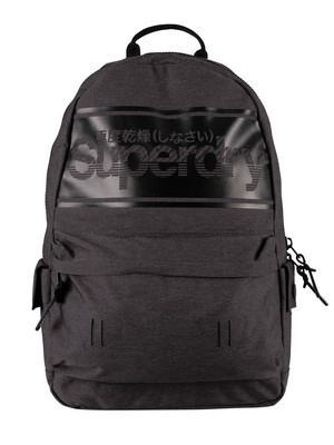 Superdry Stripe Logo Montana Backpack - Charcoal Marl