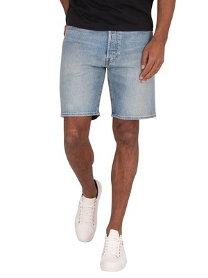 Levi's 501 Hemmed Denim Shorts - Island Stream