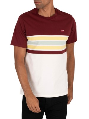 Levi's Original T-Shirt - Pop Stripe Port