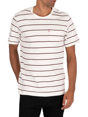 Levi's Relaxed Fit Pocket T-Shirt - Saturday Stripe
