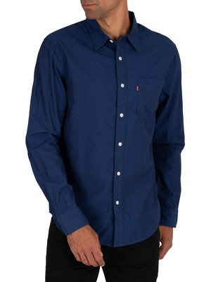 Levi's Sunset Pocket Shortsleeved Shirt - Indigo