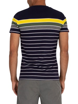 Superdry Bretton Stack T-Shirt - Rich Navy