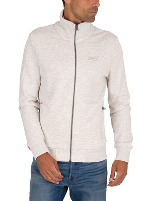 Superdry Classic Track Jacket - Pale Grey Birdseye