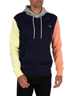 Superdry Collective Holcombe Pullover Hoodie - Rich Navy