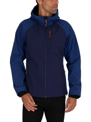 Superdry Hooded Softshell Jacket - Atlantic Navy