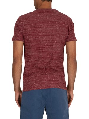 Superdry OL Vintage Embroidery T-Shirt - Brick Red Space Dye