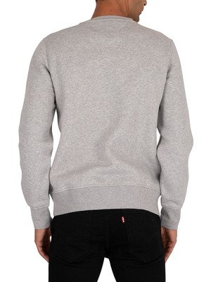 Tommy Hilfiger Flag Sweatshirt - Medium Grey Heather