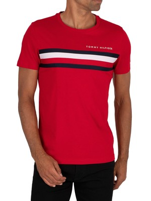 Tommy Hilfiger Global Stripe T-Shirt - Primary Red