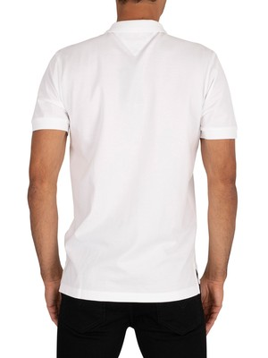 Tommy Hilfiger Logo Polo Shirt - White