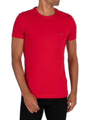 Tommy Hilfiger Stretch Slim Fit T-Shirt - Primary Red