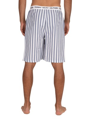 Tommy Hilfiger Woven Sleep Shorts - Stripe Coastal Fjord