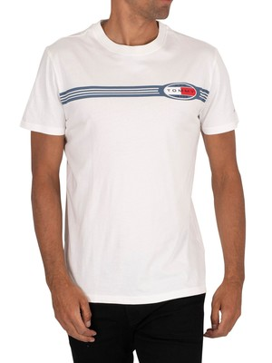 Tommy Jeans Chest Lines Logo T-Shirt - White