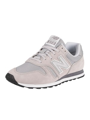 New Balance 373 Suede Trainers - Rain Cloud/White