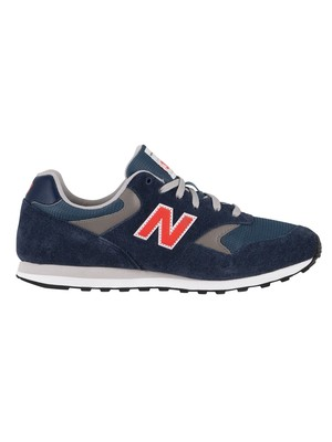 New Balance 393 Suede Trainers - Natural Indigo/Storm Blue