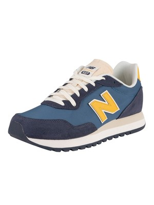New Balance 527 Suede Trainers - Natural Indigo/Cobalt Blue