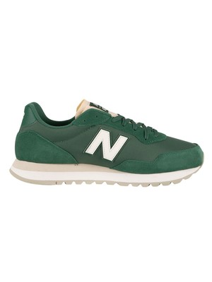 New Balance 527 Suede Trainers - Team Forest Green/Sea Salt