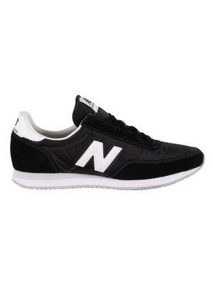 New Balance 720 Suede Trainers - Black/White