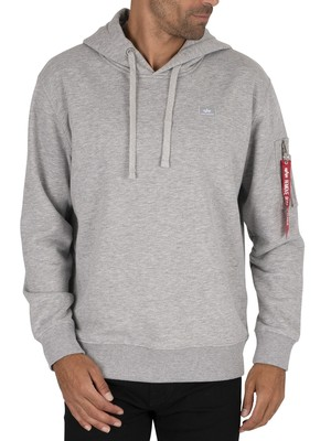Alpha Industries X-Fit Pullover Hoodie - Grey Heather