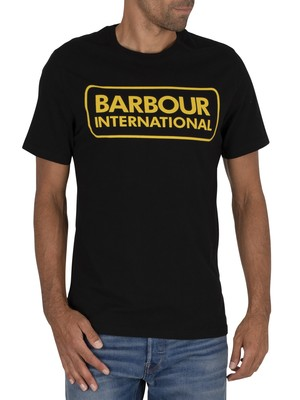 Barbour International Essential Large Logo T-Shirt - Black