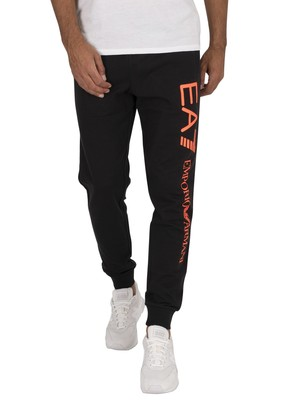 EA7 Logo Joggers - Black/Orange