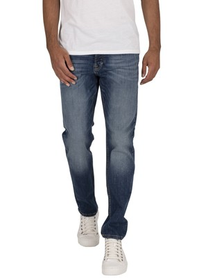 Jack & Jones Tim Original 005 Slim Straight Jeans - Blue Denim
