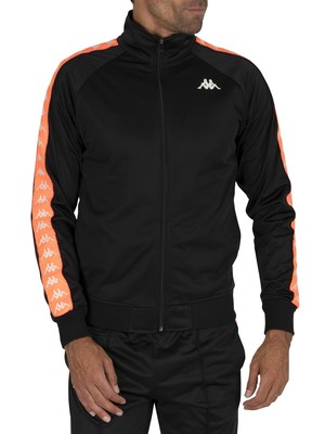 Kappa 222 Banda Anniston Slim Jacket - Black/Neon Orange